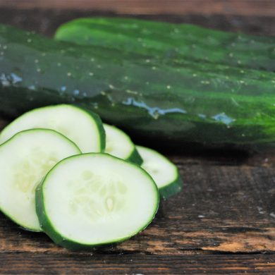 cucumbers and slices