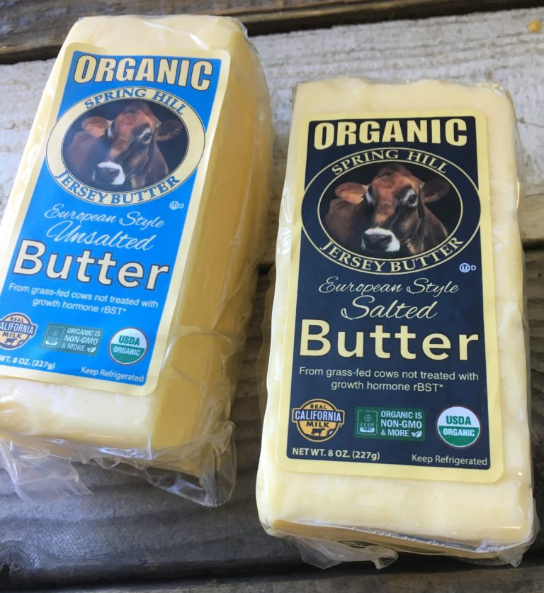 california organic butter