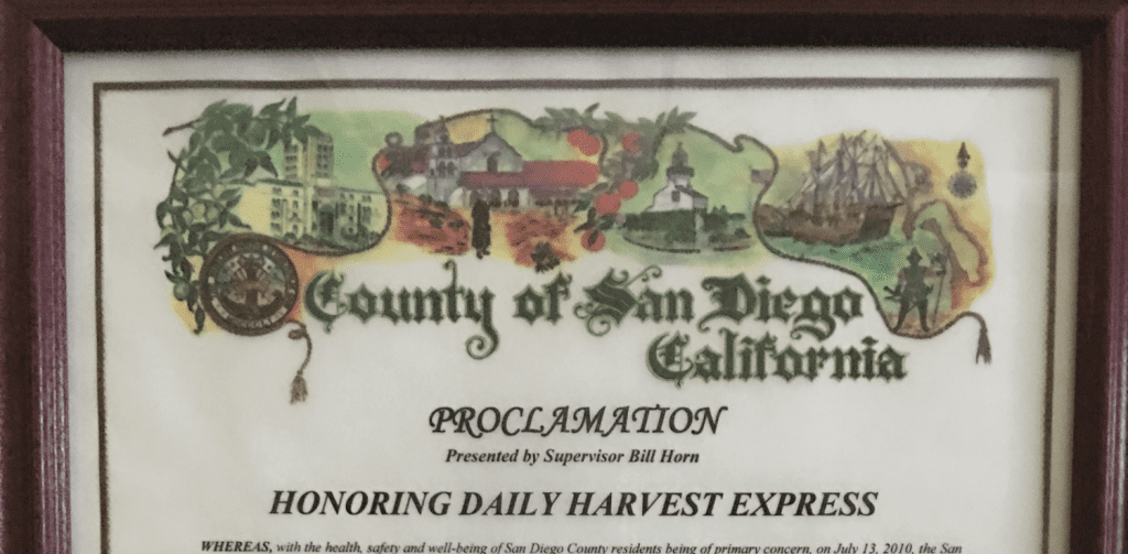 Daily Harvest Express Day - San Diego County, CA