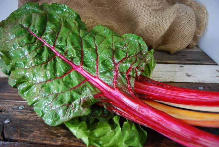 Mmm, rainbow chard. So many potential uses for any meal. Breakfast: sauteed with onions and put in an omelette; lunch: stir fried as a side; dinner: rainbow chard potato casserole.