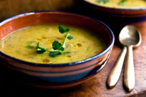 Moroccan Fava Bean & Vegetable Soup