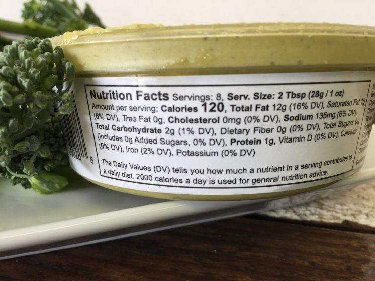 ki's pesto dip nutrition