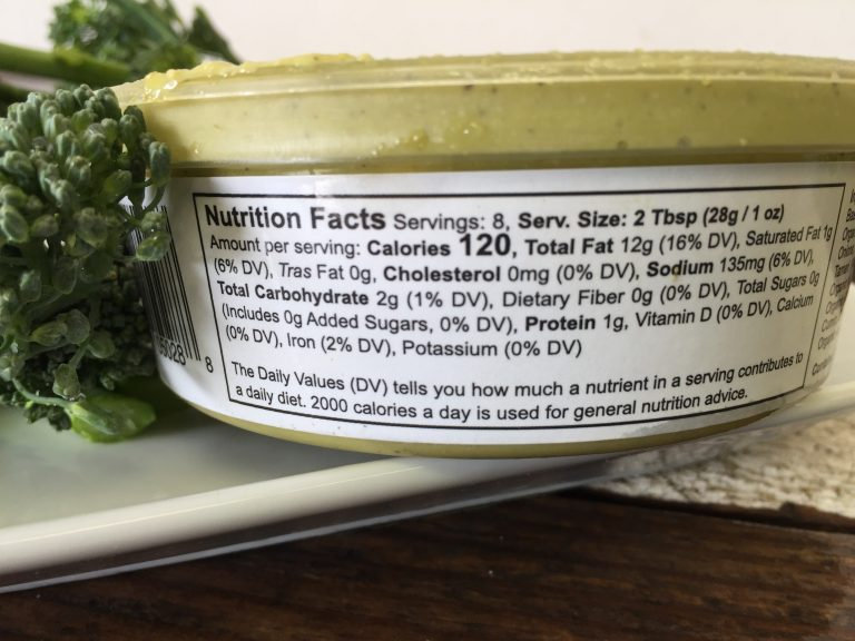 ki's pesto dip nutrition