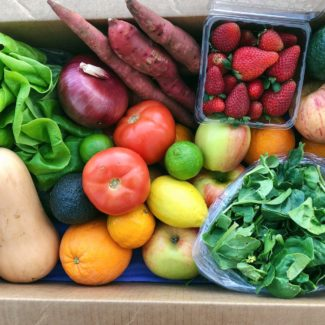 fruit and veggie farm box