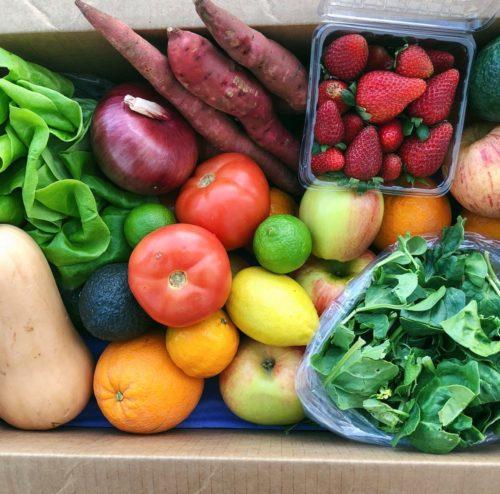 fruit and veggie farm box