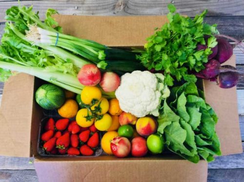 Speaking of seasonal foods, here's a Daily Harvest Farm Box, packed full of seasonal foods from local, organic farmers.