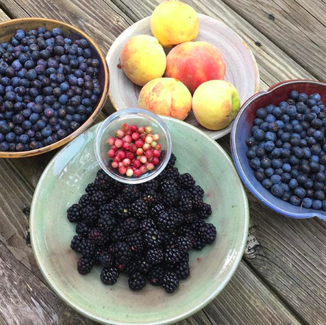 Garden fresh berries and peaches taste like July 4th, not December 25th.