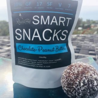 rawsome delights smart snacks chocolate peanut butter