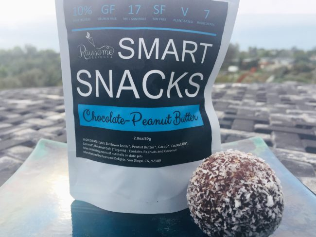 rawsome delights smart snacks chocolate peanut butter