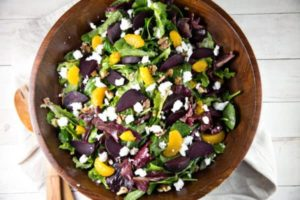 Roasted Beet Salad with Tangerines and Goat Cheese