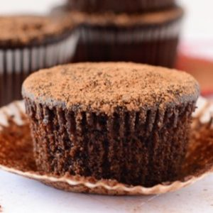 Fudgy Beet Cupcakes