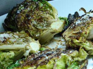 Grilled Butter Lettuce Salad
