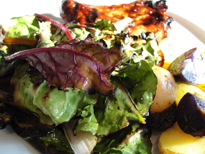 Grilled Chard & Fingerling Potatoes