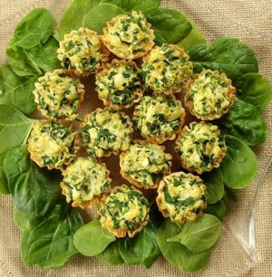 Spinach Vegan Mini Quiches