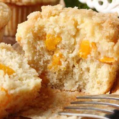 peach muffins with cream cheese