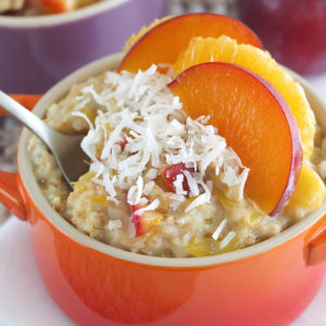 plum and orange oatmeal