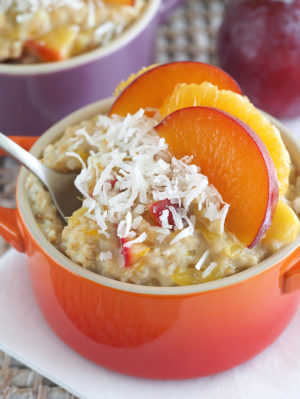 Vegan & Gluten Free Plum & Orange Oatmeal