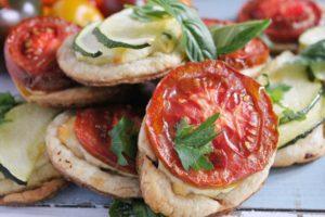 Kumato Tomato & Zucchini Ricotta Tarts