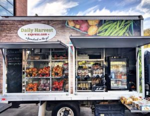 Mobile farm truck open