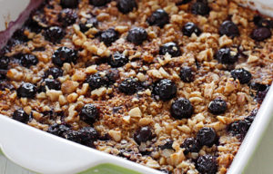 Banana Berry Baked Oatmeal with Apples and Walnuts