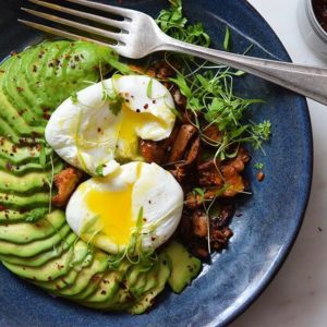 microgreen avocado eggs