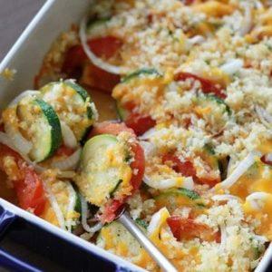 mexican squash pepper tomato gratin