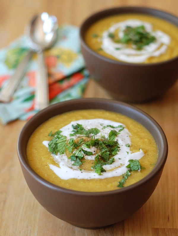 apple corn butternut squash curry soup