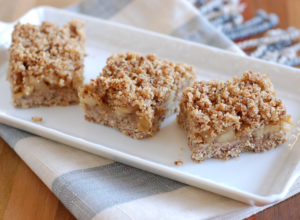 No Bake Gluten-Free Vegan Apple Crumb Bars