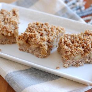 no bake gluten-free vegan apple crumb bars