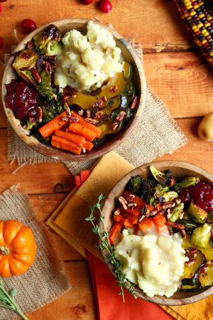 Vegan Roasted Thanksgiving Bowl