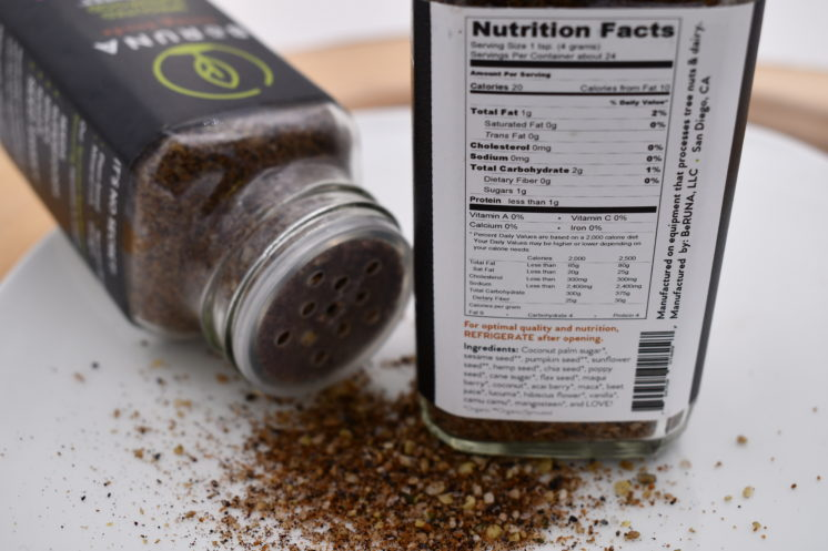 be runa seasoning berry vanilla nutrition