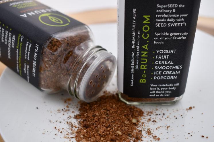 be runa seasoning coconut cacao label