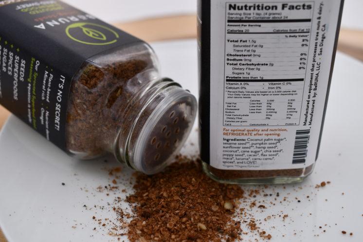 be runa seasoning coconut cacao
