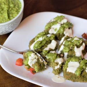 baked avocado falafel