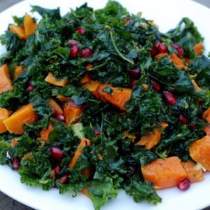 butternut squash with pomegranate