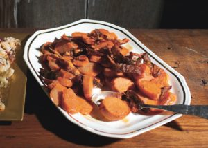 Garnet Yams with Crispy Skins & Brown Butter Vinaigrette