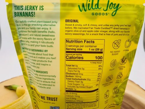 banana jerky nutrition