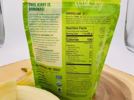 chipotle lime banana jerky nutrition