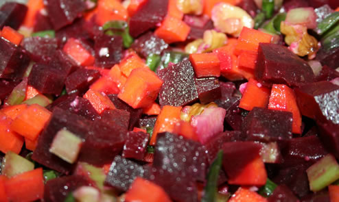Beet Celery & Carrot Salad