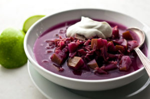 Red Cabbage & Apple Soup