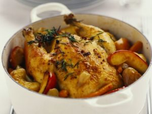 Slow Cooker Roasted Chicken & Apples