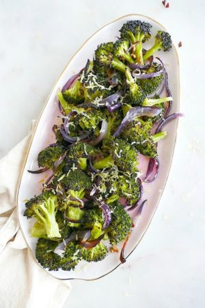 Charred Broccoli & Red Onions