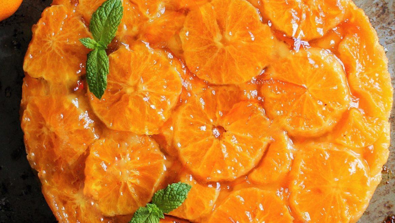 Vegan Mandarin Orange Upside Down Cake