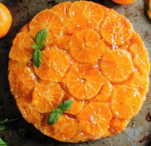 Vegan Mandarin Orange Upside Down Cake