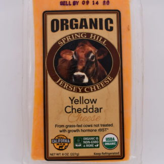 organic yellow cheddar