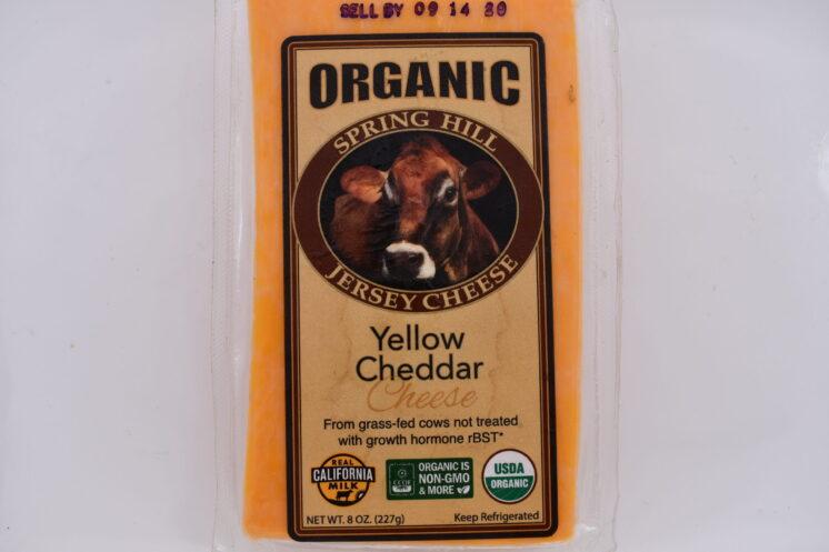 organic yellow cheddar