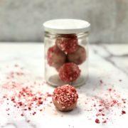 raspberry keto energy balls
