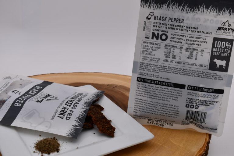 Jerky's Gourmet Black Pepper Nutrition