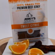 citrus flavored grass fed beef jerky