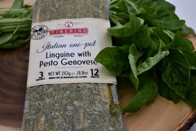 tiberino linguine with pesto genovese